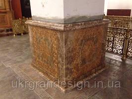 Облицовка колонн мрамором
