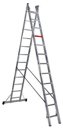 Двухсекционная алюминиевая лестница-стремянка VIRASTAR 2x12 (TSA7), фото 2