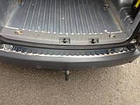 Накладка на задний бампер Volkswagen Caddy 2004-2015 (нержавеющая сталь)