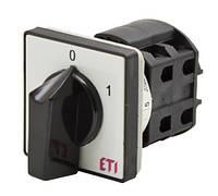 Кулачковый переключатель пакетный CS (0-1, серо-черный), ETI,