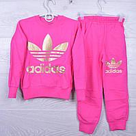 """Спортивный костюм детский """"Adidas"""" для девочек. 4-10 лет. Фуксии. Оптом"""