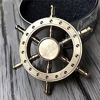 Spinner Спиннер металлический шестиконечный Штурвал корабля