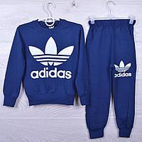 """Спортивный костюм детский """"Adidas"""" для девочек. 4-10 лет. Синий. Оптом"""