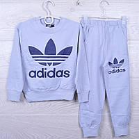 """Спортивный костюм детский """"Adidas"""" для девочек. 4-10 лет. Серый. Оптом"""