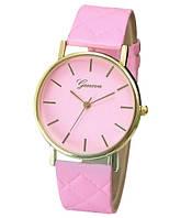 """Часы наручные женские """"Geneva classic"""" розовые кварцевые"""