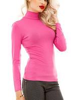 Водолазка (гольф) женский, вискоза, розовый