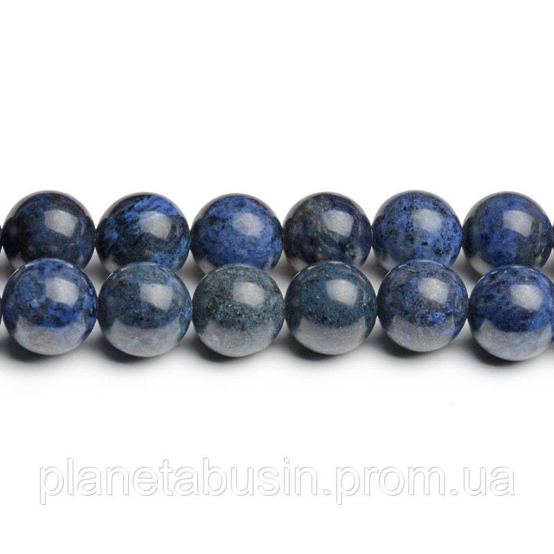 8 мм Дюмортьерит, CN269, Натуральный камень, Форма: Шар, Отверстие: 1мм, кол-во: 47-48 шт/нить