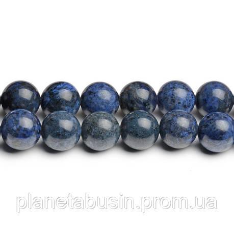 8 мм Дюмортьерит, CN269, Натуральный камень, Форма: Шар, Отверстие: 1мм, кол-во: 47-48 шт/нить, фото 2