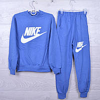 """Спортивный костюм детский """"Nike"""" для девочек. 4-10 лет. Электрик. Оптом"""