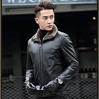 Мужская зимняя дубленка, натуральная кожа, мех. Модель 6302