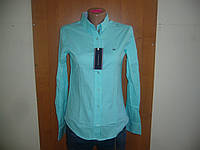 Рубашка-блузка женская классическая!Турция! длинный рукав однотонная Tommy Hilfiger! s m l xl