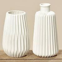 Рефленная фарфоровая ваза