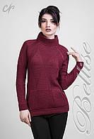 Женский теплый повседневный свитер