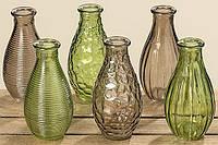 Стекляная ваза различного гранения
