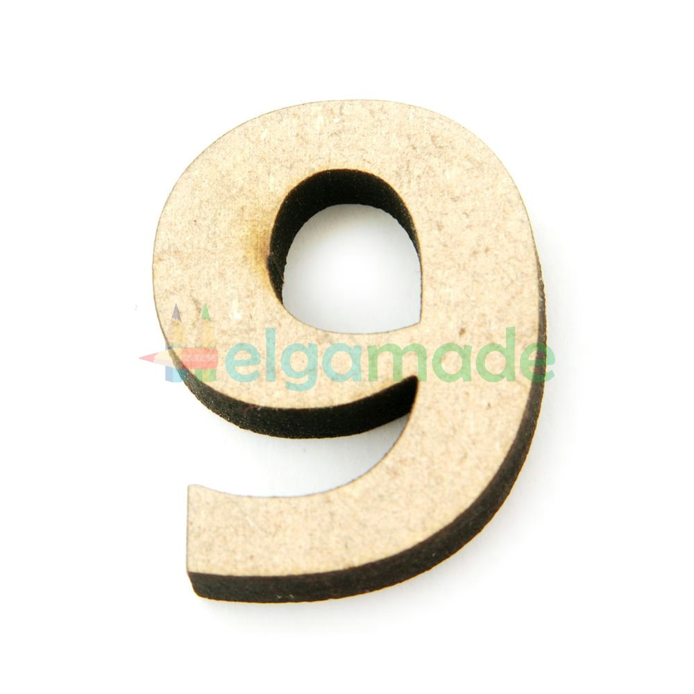 "Цифра из МДФ ""9"", 30х23 мм, 6 мм"