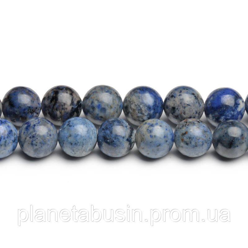 8 мм Светлый Дюмортьерит, CN270, Натуральный камень, Форма: Шар, Отверстие: 1мм, кол-во: 47-48 шт/нить