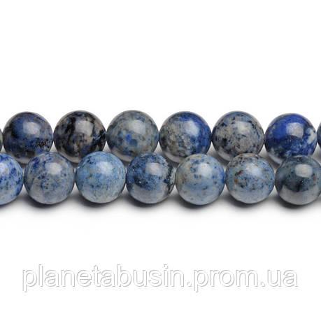 8 мм Светлый Дюмортьерит, CN270, Натуральный камень, Форма: Шар, Отверстие: 1мм, кол-во: 47-48 шт/нить, фото 2