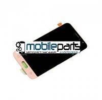 Оригинальный Дисплей (Модуль) + Сенсор (Тачскрин) для Samsung SM-J120 Galaxy J1 service (Золотой)