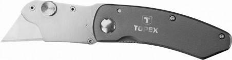 Нож с трапециевидным лезвием, 10 лезвий (шт.) TOPEX (17B178), фото 2