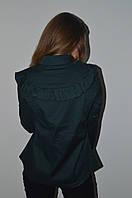 Рубашка молодежная с рюшой Elisabetta Franchi Хаки, фото 1