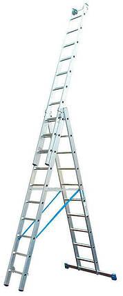 Трехсекционная универсальная лестница KRAUSE Stabilo 3x10 ступеней (123947), фото 2