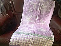 Полуторная простынь лен(двусторонняя)  Винтаж (фиолетовое) (13)