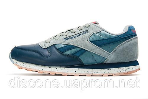Кроссовки темно-синие с серым, мужские Reebok Classic, р. 41 43 44
