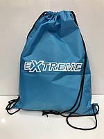Рюкзак 2626 голубой с рисунком для сменной обуви спортивный школьный