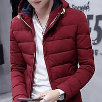 Зимнее пальто молодежное, мужское. С воротником. Модель 6210