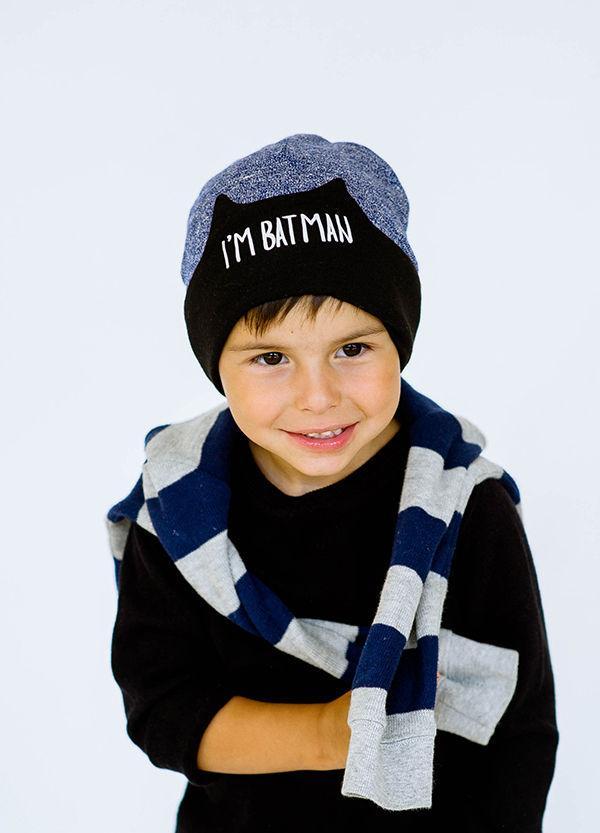 Детская шапка БЭТМЕН для мальчиков оптом размер 48-50
