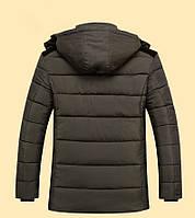 Теплая мужская зимняя куртка. Модель 6101, фото 4
