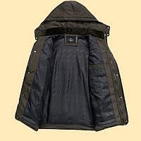 Теплая мужская зимняя куртка. Модель 6101, фото 5