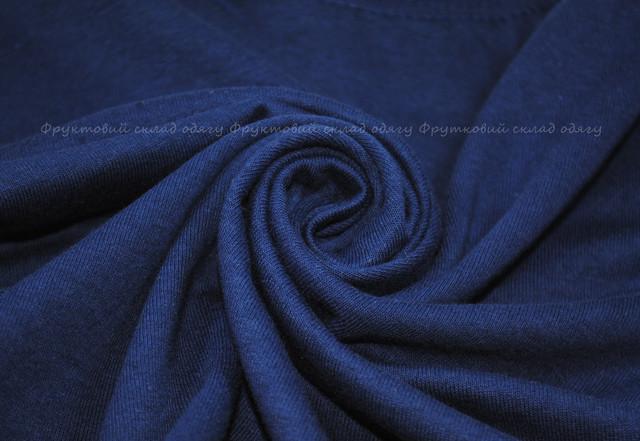 Тёмно-синяя детская легкая футболка
