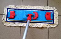Универсальная швабра под отжим для влажной и сухой уборки 50 см