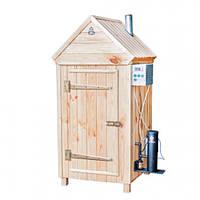 Коптильня холодного и горячего копчения с деревянным шкафом