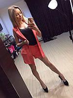Летний женский костюм с шортами