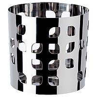 VACKERT Украшение на свечу в стекло, нержавеющ сталь лист