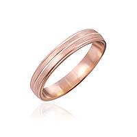 """Обручальное серебряное кольцо с позолотой """"934"""""""