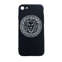 Чехол силиконовая накладка 3D Sparcle Premium Print TPU Soft Touch Lion Apple iPhone 5