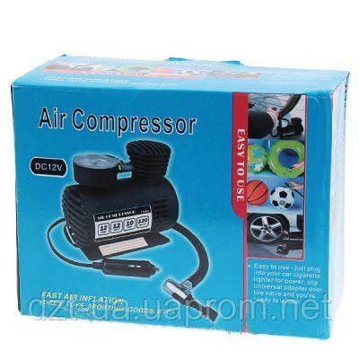 Автомобильный воздушный мини компрессор (DC 12V, 300 PSI)