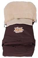 Зимний конверт Qvatro №20 с удлинением и аппликацией коричневый (три медведя) 78252