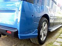 Задние угловые накладки бампера Nissan Primastar/Opel Vivaro/Renault Trafic (стекловолокно ,под покраску)