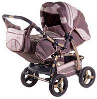 Детская коляска-трансформер Adamex Galaxy шоколад-капучино-капучино (палочки) 620319
