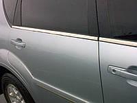 Молдинги окна нижние SsangYong Rexton 2004-2012 (нержавеющая сталь)
