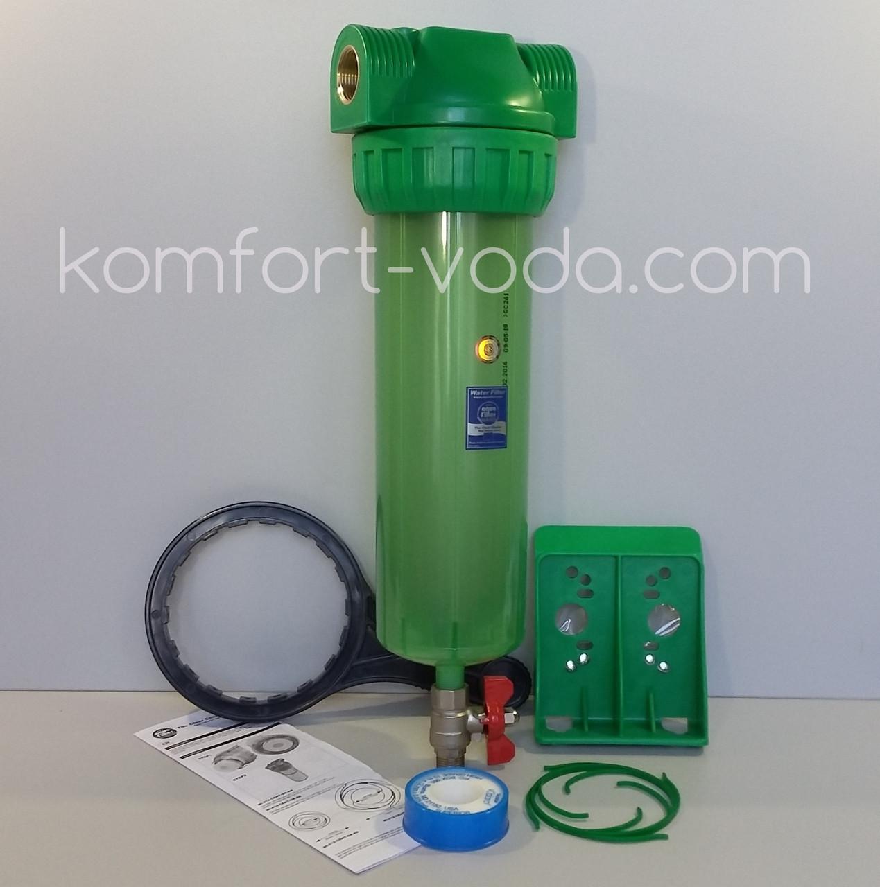 """Фильтр самопромывной Aquafilter FHPR34-3V_R-AB, 10"""""""