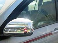 Хром накладки на зеркала Toyota LC Prado 120 / Lexus GX 470 2 шт. (хромированный пластик)