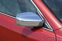 Хром накладки на зеркала Toyota Camry 40 06-09 / Corolla 07-09 / Auris 07-09 / Yaris 05-09 (хромированный пластик)