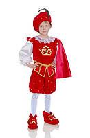 Принц в красном камзоле карнавальный костюм для мальчика
