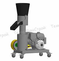 Гранулятор топливных пеллет МГК-200 (бензиновый дв. 9 л. с.) матрица 200 мм, 200 кг/час