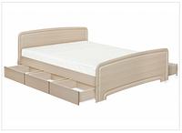 Кровать двуспальная К-160 6Я  ДСП с 6 ящиками  серия Классика  (Абсолют) 1680х2030х800/400мм